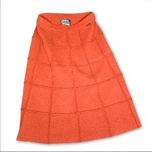 Chanel Wool & Camel Hair Burnt Orange Skirt